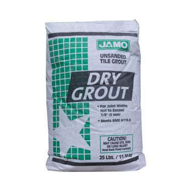 JAMO DRY GROUT WHITE UNSANDED 25LB BAG