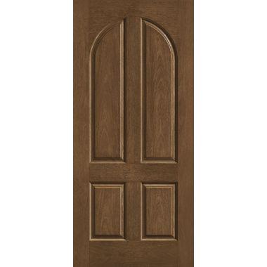 THERMATRU® IMPACT 36X80X1-3/4 OPAQUE 4 PANEL ARCH TOP FIBERGLASS DOOR