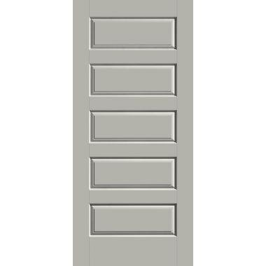 THERMATRU® IMPACT 36X80X1-3/4 OPAQUE 5 PANEL CANVAS FIBERGLASS DOOR