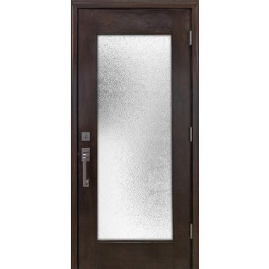 IMPACT 36X80X1-3/4 FULL LITE MAHOGANY WOOD DOOR W/ WHITE LAMI GLASS