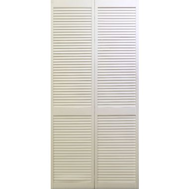 PRIMED WOOD LOUVER - 2 DOOR UNIT