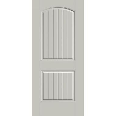 THERMATRU® IMPACT 36X80X1-3/4 OPAQUE 2 PANEL PLANK FIBERGLASS DOOR
