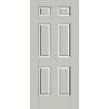 THERMATRU® IMPACT 32X80X1-3/4 OPAQUE 6 PANEL FIBERGLASS DOOR