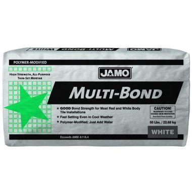 JAMO THIN -SET SANDED MULTI-BOND WHITE 50LB BAG