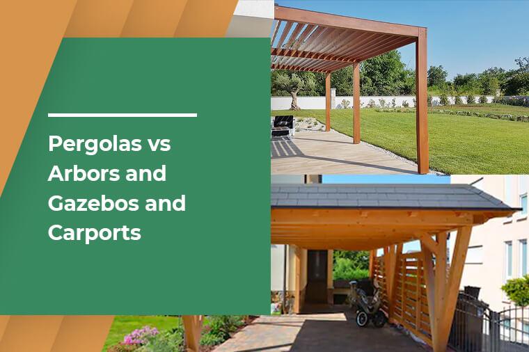 What is a Pergola? Pergolas vs Arbors and Gazebos and Carports